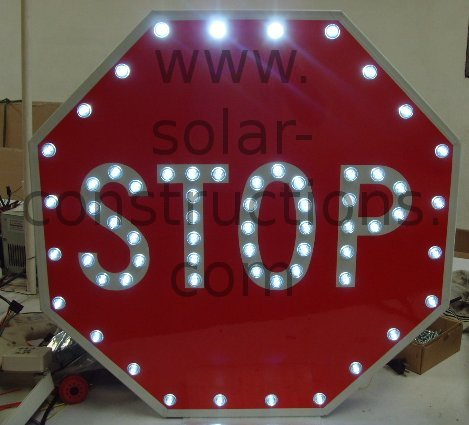 LED stop sign with solar