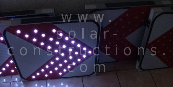 LED sign Chevron, dangerous curve ahead sign with leds
