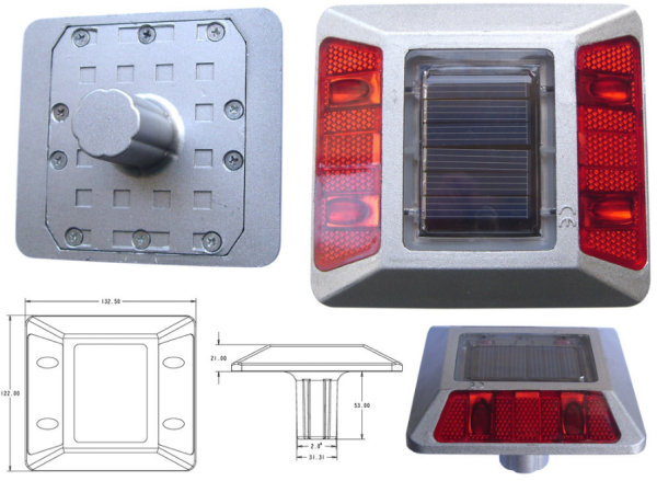 solar led integrated road marking