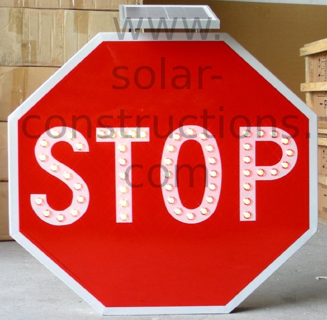LED stop sign traffic
