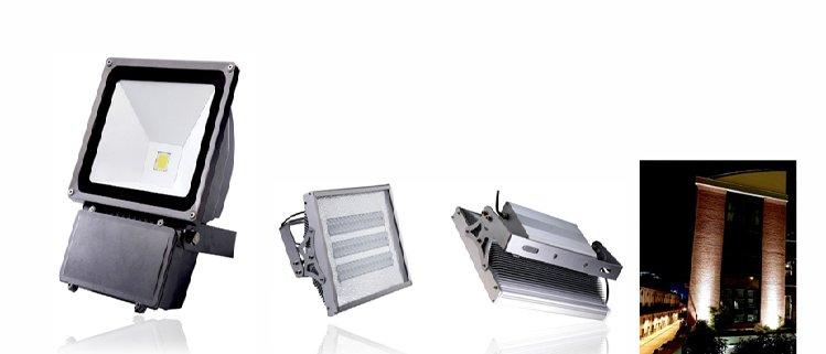 LED large area lighting LED industrial flood lighting, Exterior LED luminaires
