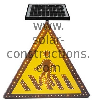 LED crossing sign
