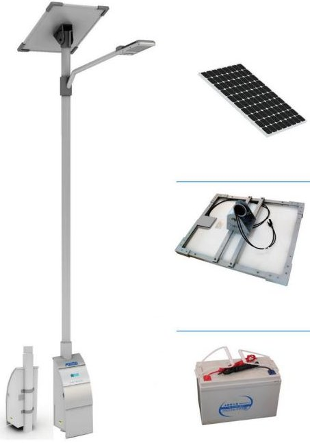 Solar led parkverlichting autonome led verlichting for Solar lampen