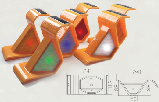 guardrail reflector led solar