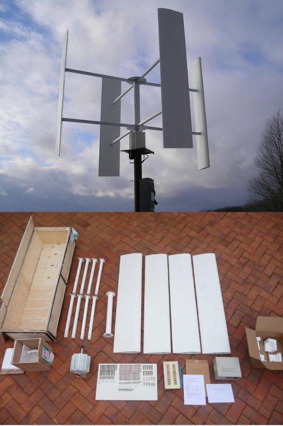 Zelfbouw windmolen generator