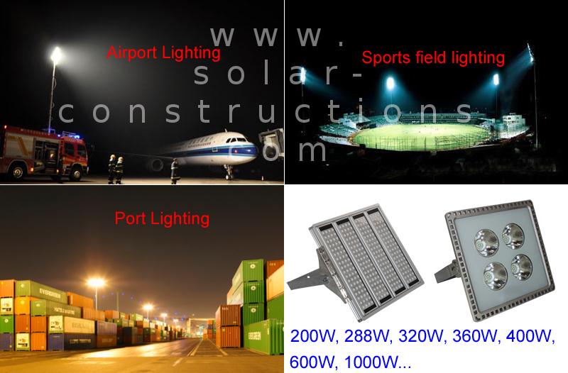 High mast LED light illuminate large areas with led,loading dock led light