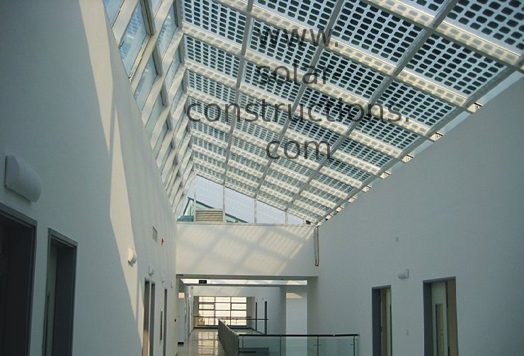 double glass and transparent BIPV solar panel