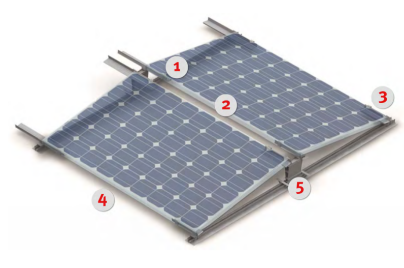 east west solar mounting system flat roof