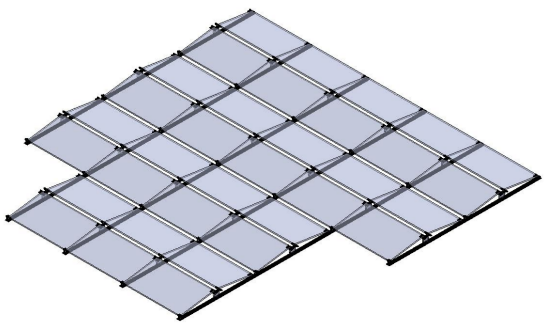 east west solar structure layout
