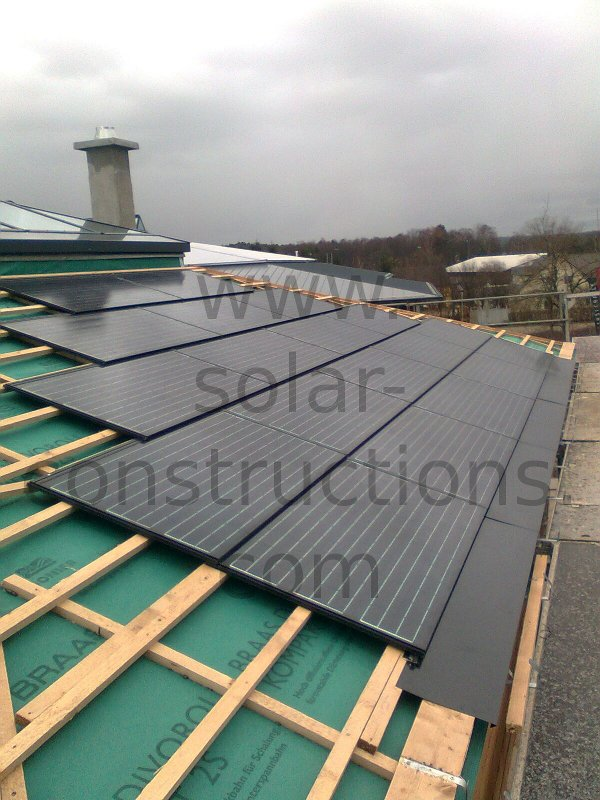 Bipv geintegreerde zonnepanelen - Van schaduw dak ...