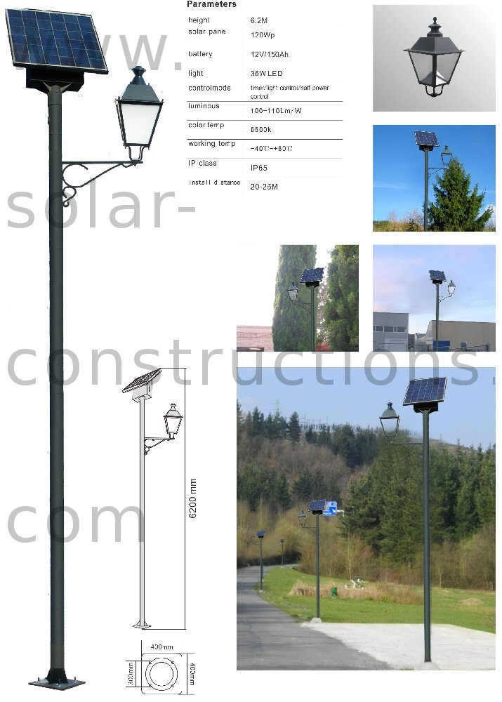 led park light solar, autonomous light