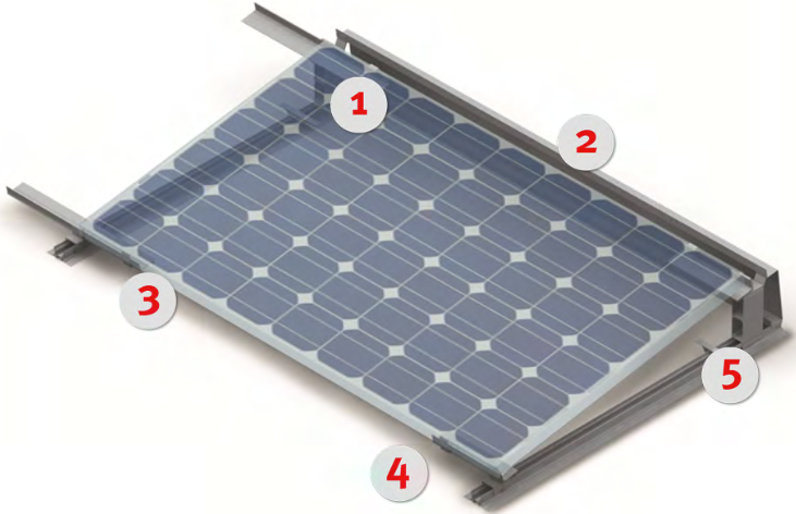lightweight flat roof solar mounting system