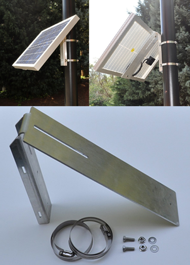 mouting solution for small solar panels on poles