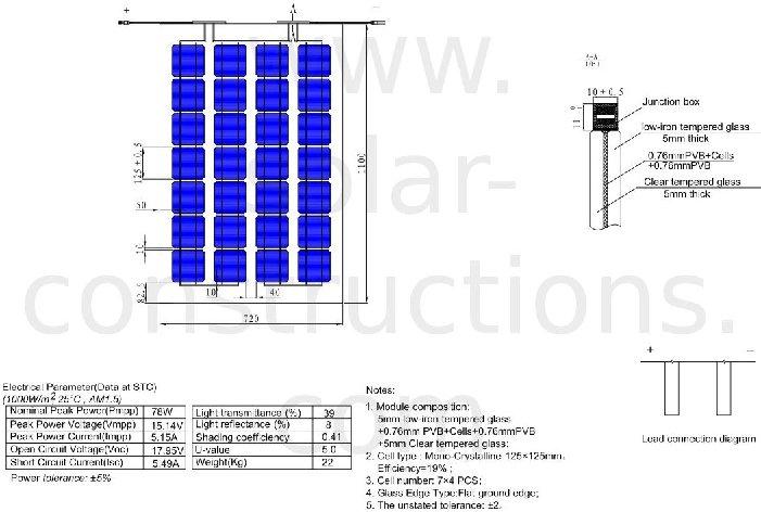 Panneaux Solaire Transparent Bipv