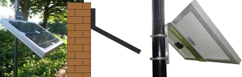 profiles to mount solar panels on poles