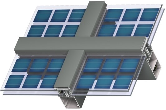 solar facade system bipv solution pv window