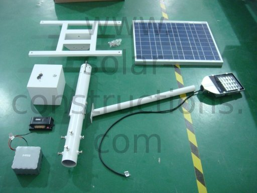 solar lamp components solar light kit with battery on top