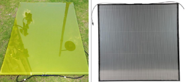 solar panels for windows in various colours