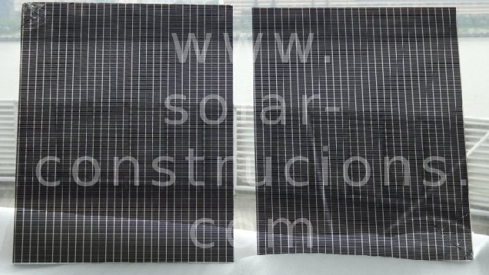 thin film solar double glass