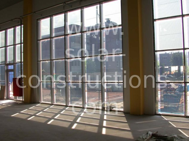 thin film solar window facade transparent