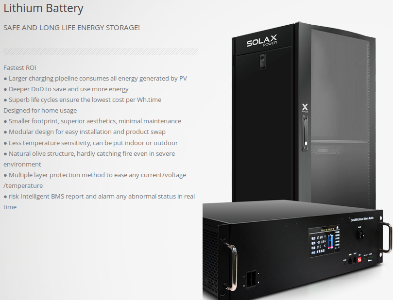 solax Solar Battery Storage Systems