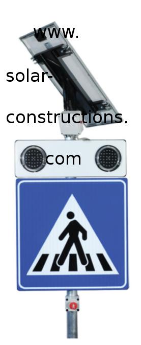 LED crosswalk traffic warning autonomous with movement sensor
