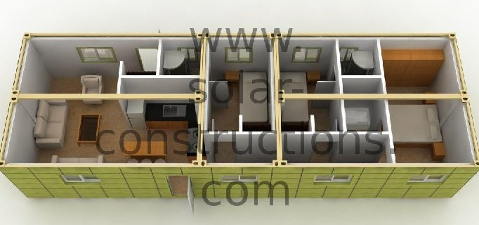 Eco construction modulaire for Container modulable