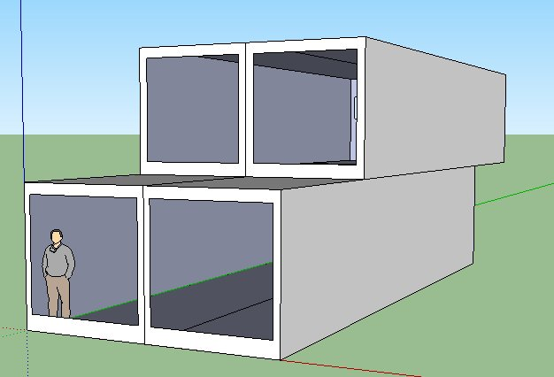 Solar modulhaus buro for Container fertighaus