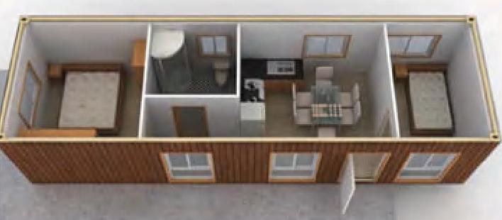 Solar modulhaus buro for Fertighaus container modul
