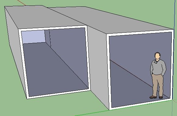 simple modular house of 56m2