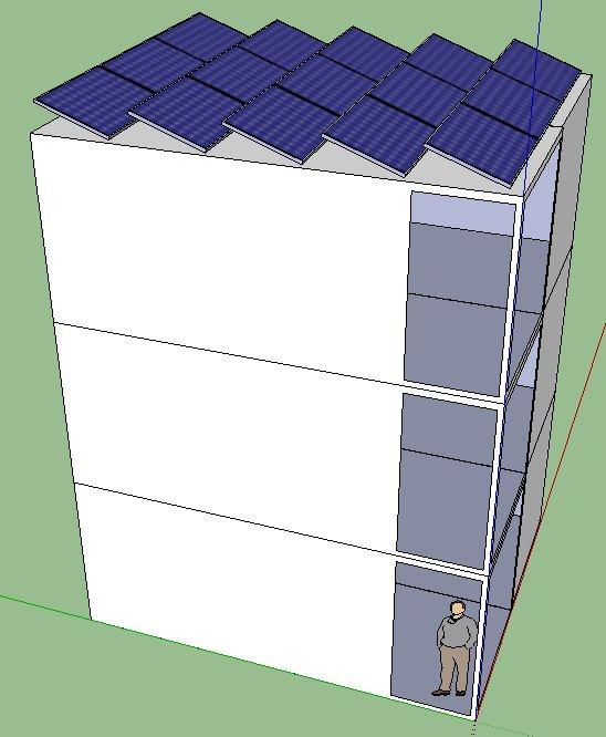 modular house powered by solar