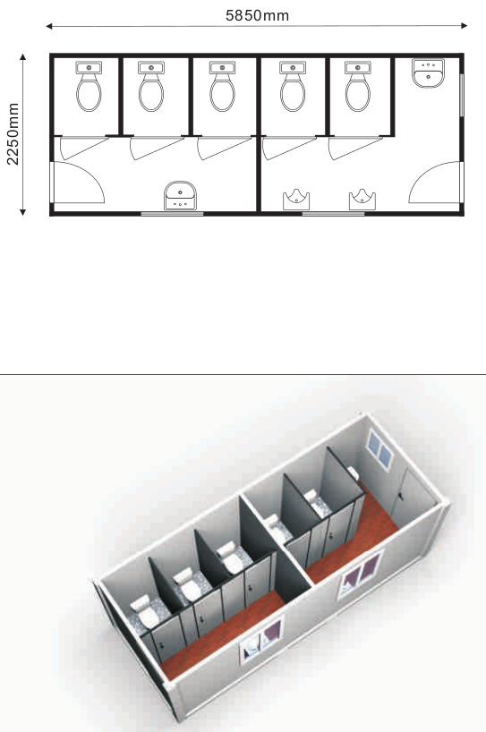 modular toilet facility container