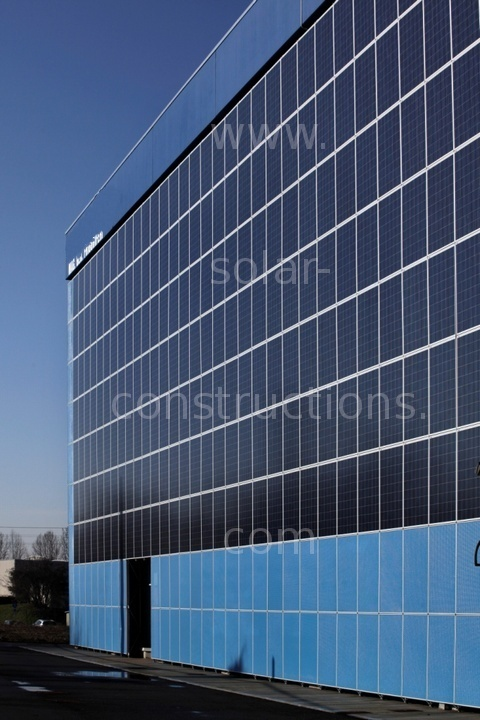 Building Cladding Panels : Solar facade cladding